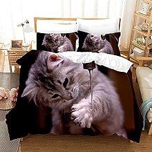 Set di Biancheria da Letto Singolo Gatto Di Colore
