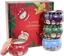 Set di candele profumate natalizie, set di candele