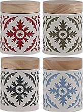 Set di contenitori in Ceramica con Coperchio in