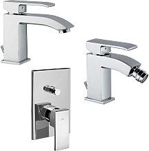 Set di miscelatori da bagno Level lavabo, bidet e