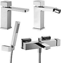 Set di miscelatori lavabo bidet e vasca con kit