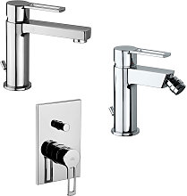 Set di miscelatori Ringo lavabo, bidet e doccia