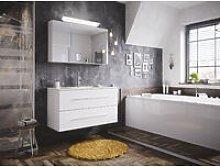 Set di mobili da bagno Firenze 100 2 parti bianco
