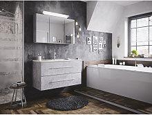 Set di mobili da bagno Firenze 100 2 parti grigio