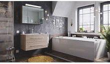 Set di mobili da bagno Firenze 90 2 parti rovere
