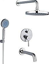 Set di rubinetti doccia per bagno, soffione doccia