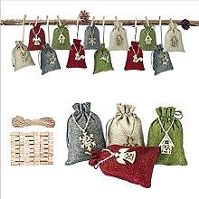 Set di sacchetti di iuta di lino, sacchetti di