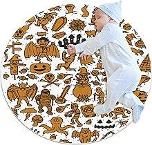 Set di simpatici tappetini rotondi antiscivolo per