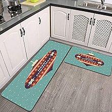 Set di tappeti da cucina,buon natale card design