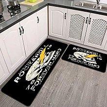 Set di tappeti da cucina,tee print design come