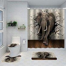 Set di tappeti e tende da doccia per bagno Set di