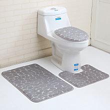 Set di tappeti per bagno 3 pezzi, tappeto con