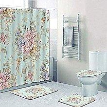 Set di tappetini da bagno shabby floreale set di