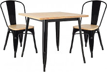Set di tavoli in legno LIX (80x80) e 2 sedie in