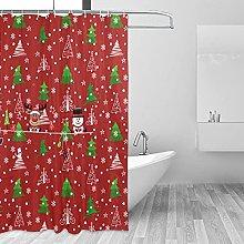 Set di tende da doccia con albero di Natale, con