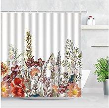 Set di tende da doccia floreale Set di fiori