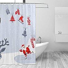 Set di tende da doccia in tessuto con immagine di