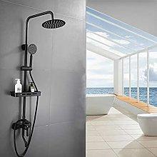 Set doccia completamente bronzo, doccia in acciaio