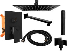Set doccia da incasso Rea Fenix Black + BOX