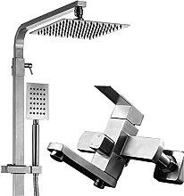 Set doccia doccia con soffione quadrato in acciaio