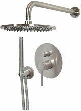 Set doccia in colore acciaio spazzolato Gattoni