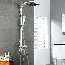 Set doccia in lega di alluminio con doccetta