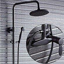 Set doccia in ottone cromato con miscelatore per