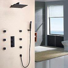 Set doccia termostatico a parete in ottone
