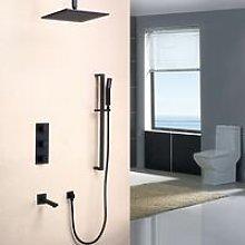 Set doccia termostatico bocca doccia in ottone