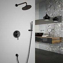 Set doccia termostatico con doccetta finitura nera