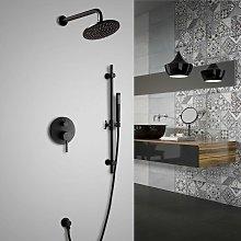 Set doccia termostatico moderno rotondo per