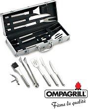 Set kit 6 pz accessori griglia barbecue BBQ