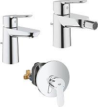 Set Miscelatori Grohe Bauedge lavabo bidet e