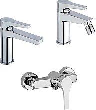 Set miscelatori lavabo + bidet + esterno doccia