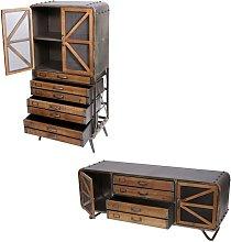 Set mobile da salotto porta TV con cassettiera