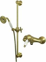 Set per doccia stile retrò in colore bronzo