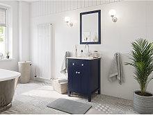 Set stile rustico 2pz. Postigo 60 legno blu