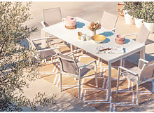 Set tavolo allungabile Starmi (180-240 cm) e 6
