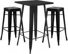Set tavolo alto LIX e 2 sgabelli alti LIX Nero