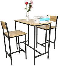 Set tavolo da bar + 2 sedie, Set 1 tavolo + 2