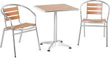 Set Tavolo e 2 Sedie da Esterno in Alluminio con