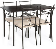 Set Tavolo e 4 sedie per ?Cucina/Sala ?da Pranzo,