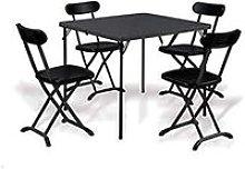 Set tavolo e sedie pieghevoli salvaspazio per