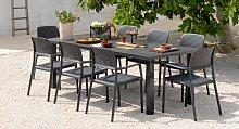 Set tavolo Levante con 6 poltrona Bora - Scopri