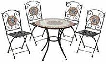 Set Tavolo Rotondo da Pranzo con 4 Sedie