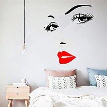 Sexy ciglia e labbra rosse Adesivo da muro per