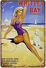 Sexy Femminile placca di Metallo Ragazza Poster