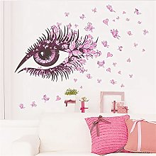 Sexy Girl Eyes Adesivi della parete della farfalla