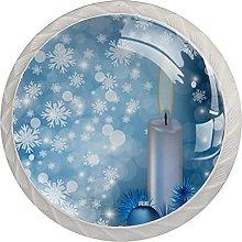 Sfera di candela a forma di fiocchi di neve blu