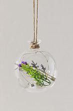 Sfera di Natale in cristallo con luce LED